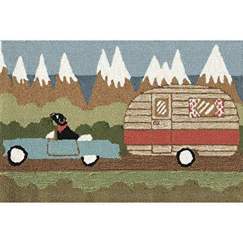(Liora Manne FT023A51406 Whimsy Summer Trip Rug, Indoor/Outdoor, Scatter Size, Green )