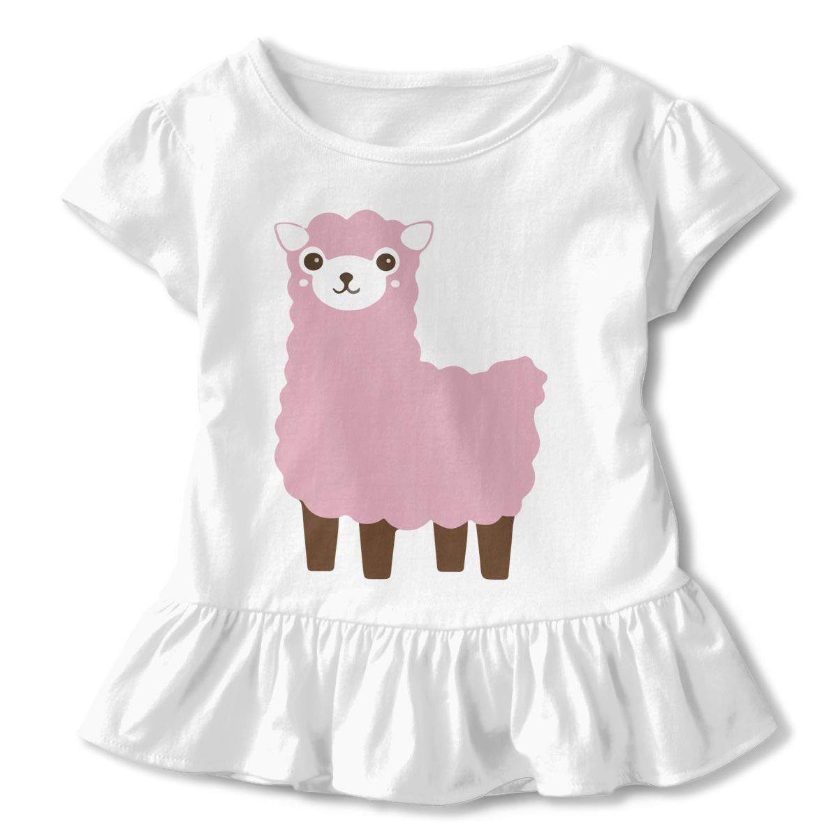 No Prob-Llama Kids Children Crew Neck Shirt Dress
