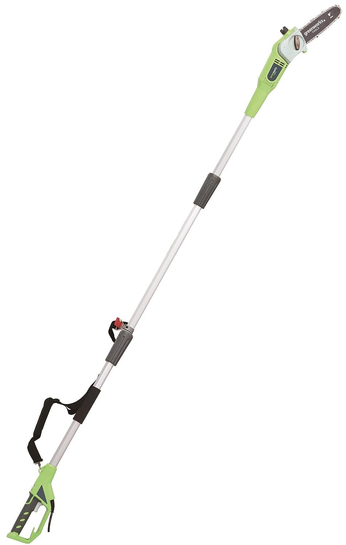 Greenworks Tools 20167 Elektro Hochentaster und Astschere 720 Watt, Schwertlänge 20 cm