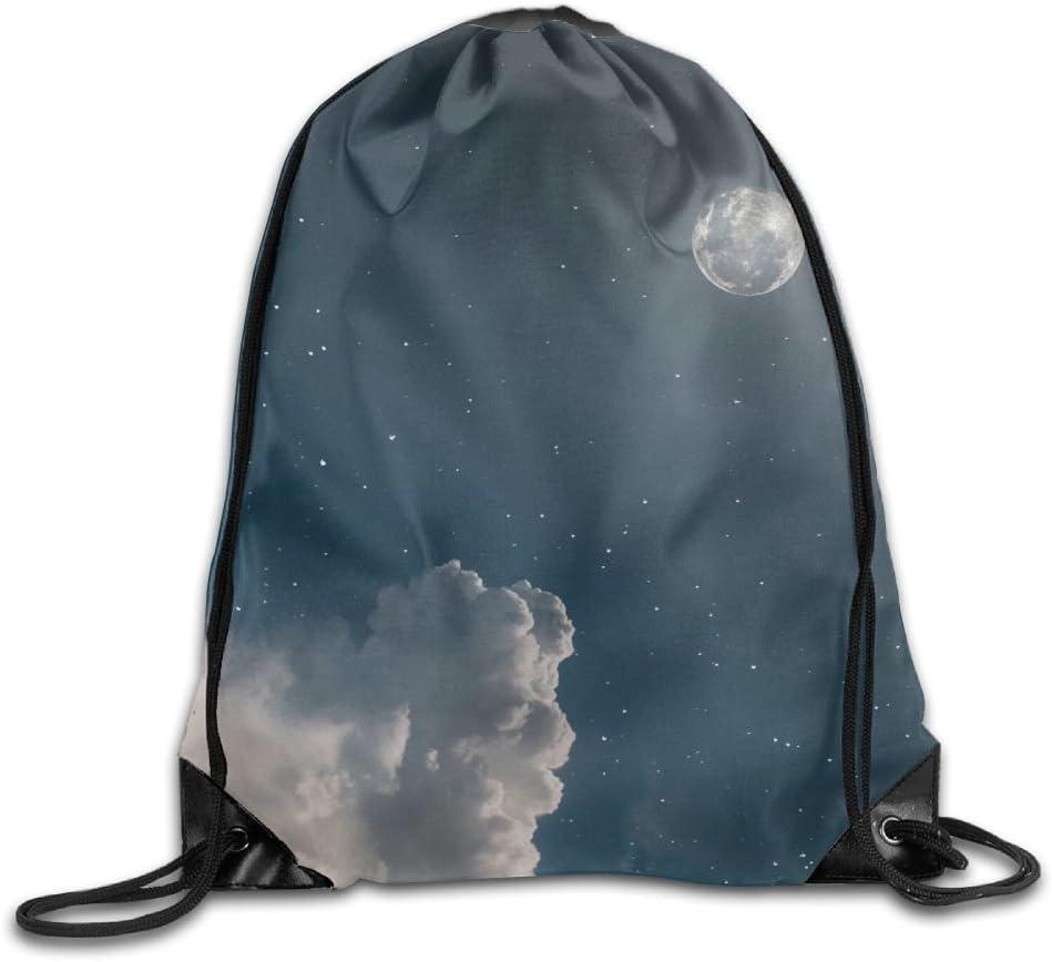 Starry Sky Drawstring Backpack Rucksack Shoulder Bags Training Gym Sack For Man And Women