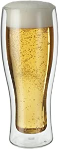 ZWILLING J.A. Henckels 39500-210 Double-Wall Beer Glass Set, 14 fl. oz