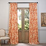HPD HALF PRICE DRAPES Half Price Drapes PRCT-D09A-96 Printed Cotton Curtain, 50 x 96, Rust Review