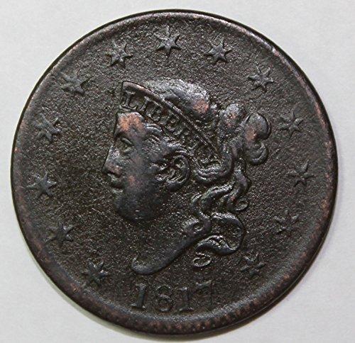1817 D Large Cent 1c VF