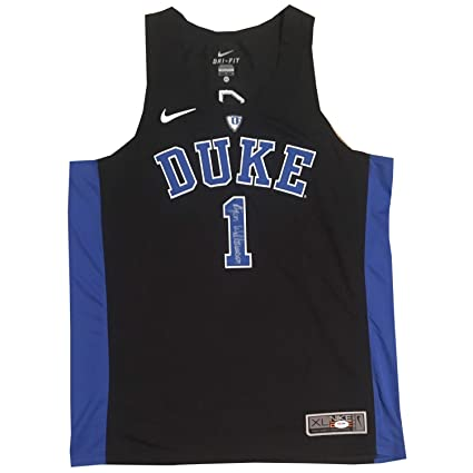 detailed look d428d 5e2ef Zion Williamson Autographed Duke Blue Devils Signed Nike ...