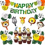 Jungle Theme Party Decorations Baby Shower Safari Zoo Huge Animal Head Balloons for 1st 2nd Birthday Party Decorations