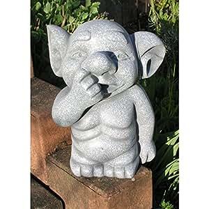Troll Heinz Jardín gnomo gnomo Fantasy Figura Escultura Polystone 27cm Decoración Enano