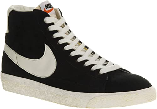 Nike Blazer Hi Suede Vintage Black White - 8 Uk: Amazon.co ...
