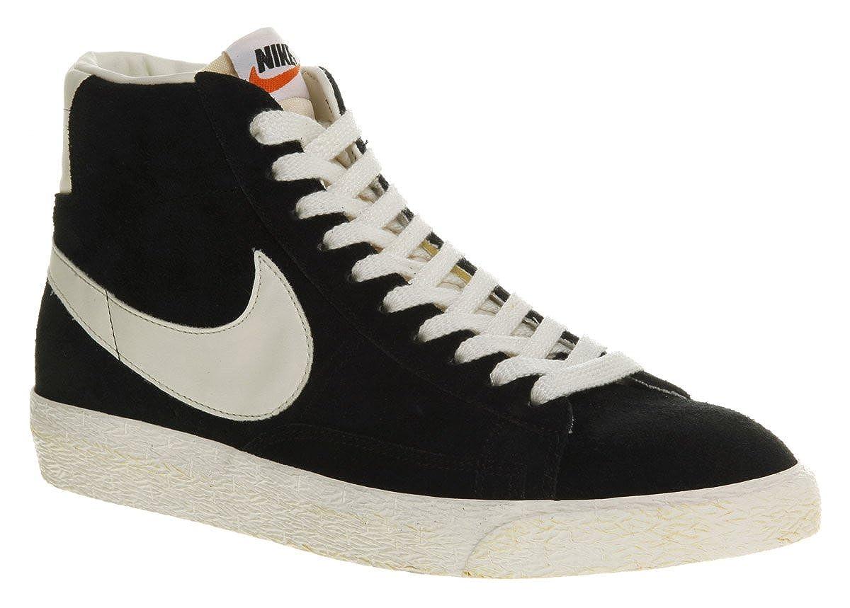 best loved 4ba71 d4b4f Nike Blazer Hi Suede Vintage Black White - 8 Uk: Amazon.co ...