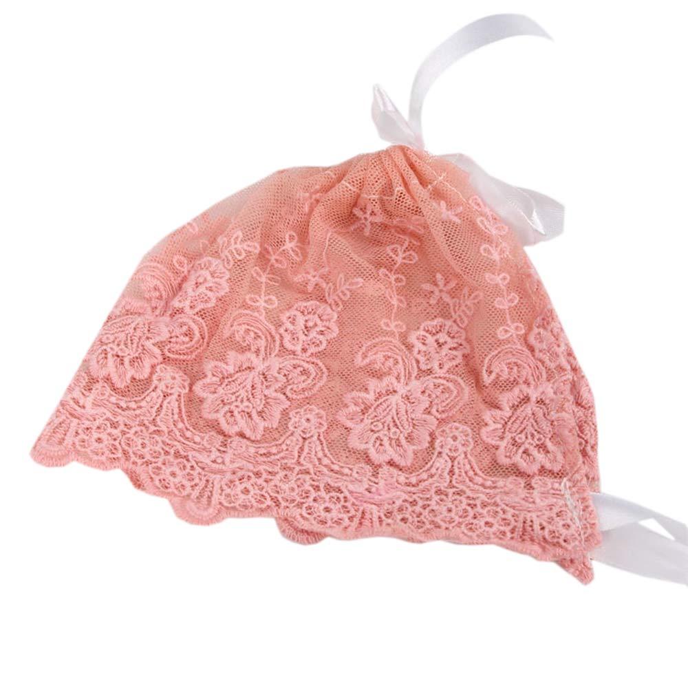 Fdrirect Baby Lace Hat Newborn Lace Hat Nice 3 Colors Cap Ribbon