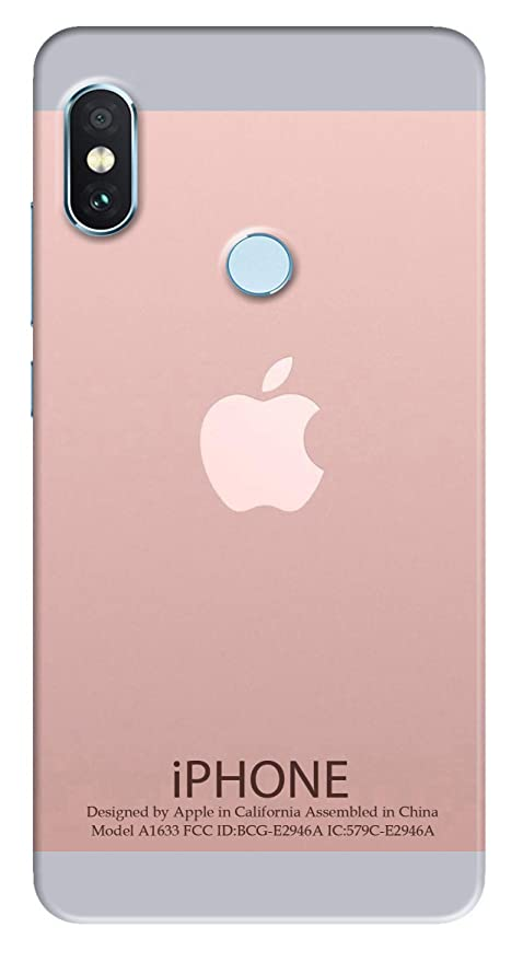 online store ae8a6 b8e96 PAEDICON Silicon Apple Logo Printed Back Cover for Mi: Amazon.in ...
