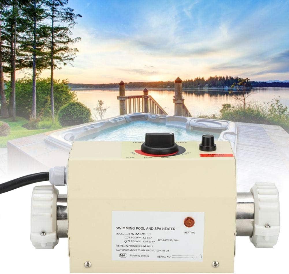 Zouminyy Calentador De Piscina, Calentador SPA, 3KW Mini Termostato De Calentador De Agua Para Piscina BañEra De Hidromasaje Spa Bath(EU Plug)