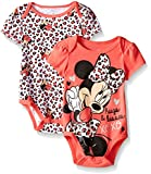 Disney Baby Girls  Minnie Mouse Two-Pack Bodysuits