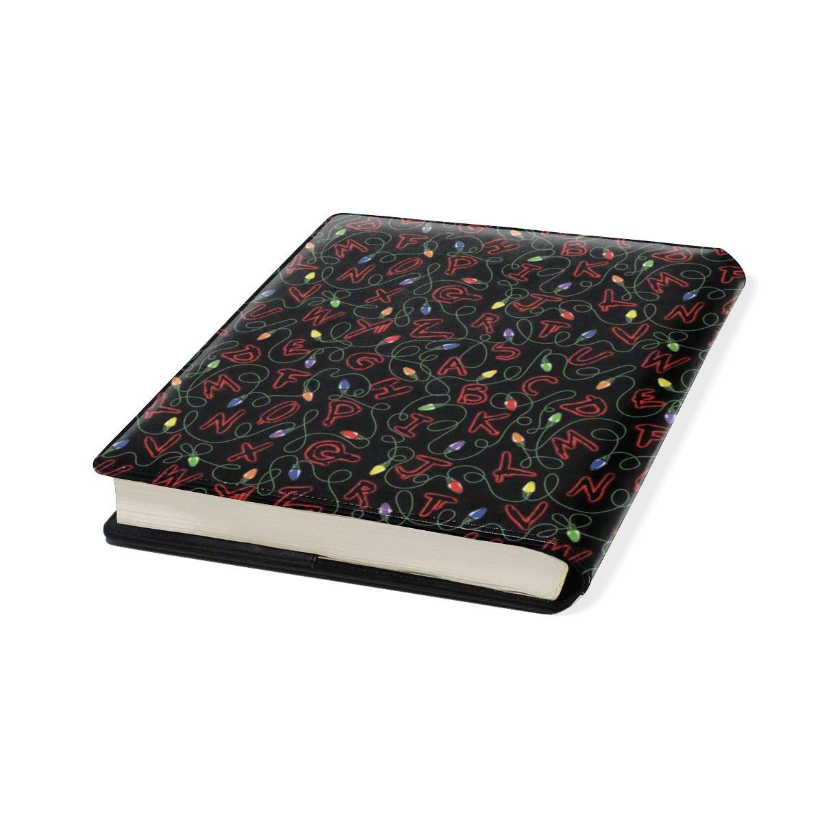 Stranger Things Jumbo Book Covers Fits Most Hardcover Textbooks Up to 9X 11 for Students PU Leather Washable and Reusable