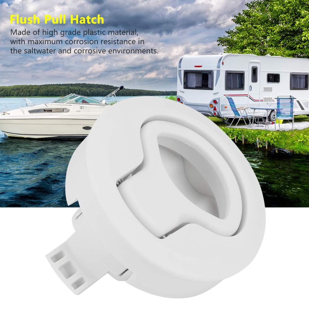 Color : Blanco Marine Latches Slam Latch-Plastic Flush Pull Hatch Latch para RV Marine Boat RV
