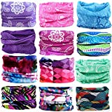 KALILY 12PCS Headband Bandana - Versatile Sports Headwear –Multifunctional Seamless Neck Gaiter, Headwrap, Balaclava, Helmet Liner, Face Mask for Camping, Running, Cycling (12PCS- C Set)