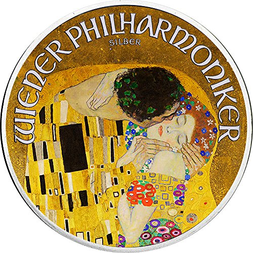 2018 AT Modern Commemorative PowerCoin KISS 100th Anniversary Gustav Klimt 1 Oz Silver Coin 1.5€ Austria 2018 BU Brilliant Uncirculated ()