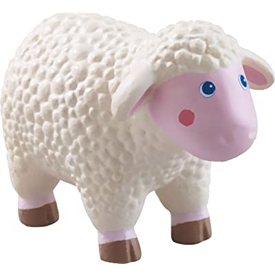 "HABA Little Friends Sheep - 3.75"" Chunky Plastic Toy Farm Animal Figure: Toys & Games"