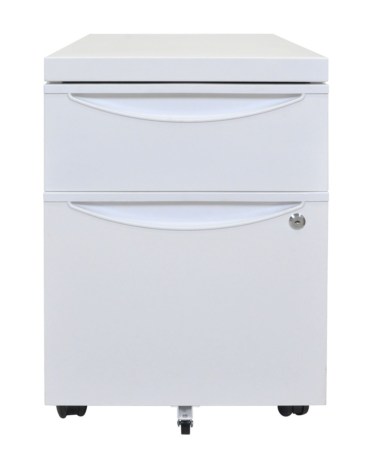 Amazon.com: 2 Drawer Mobile Pedestal File Cabinet Finish: White ...