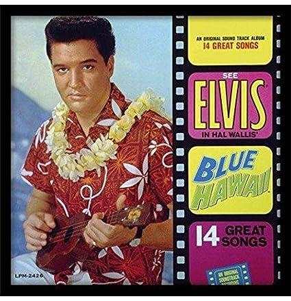 Elvis Presley Blue Hawaii enmarcado clásico álbum funda filmcell ...