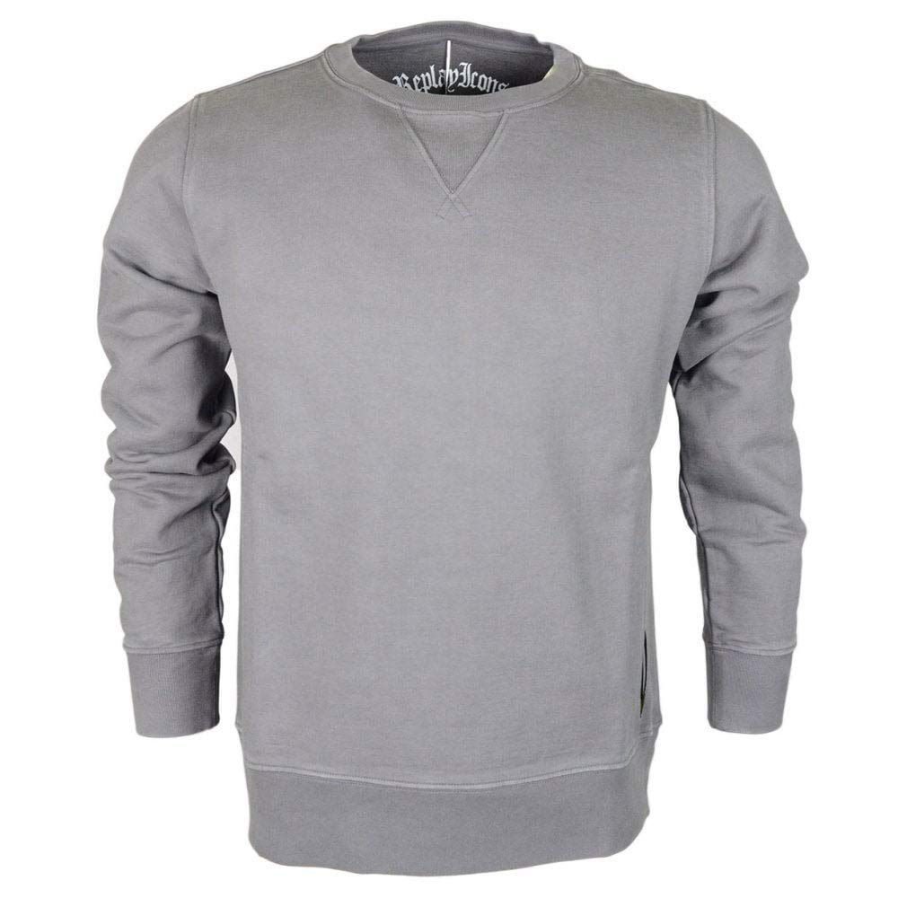 Replay Herren Sweatshirt Grau grau