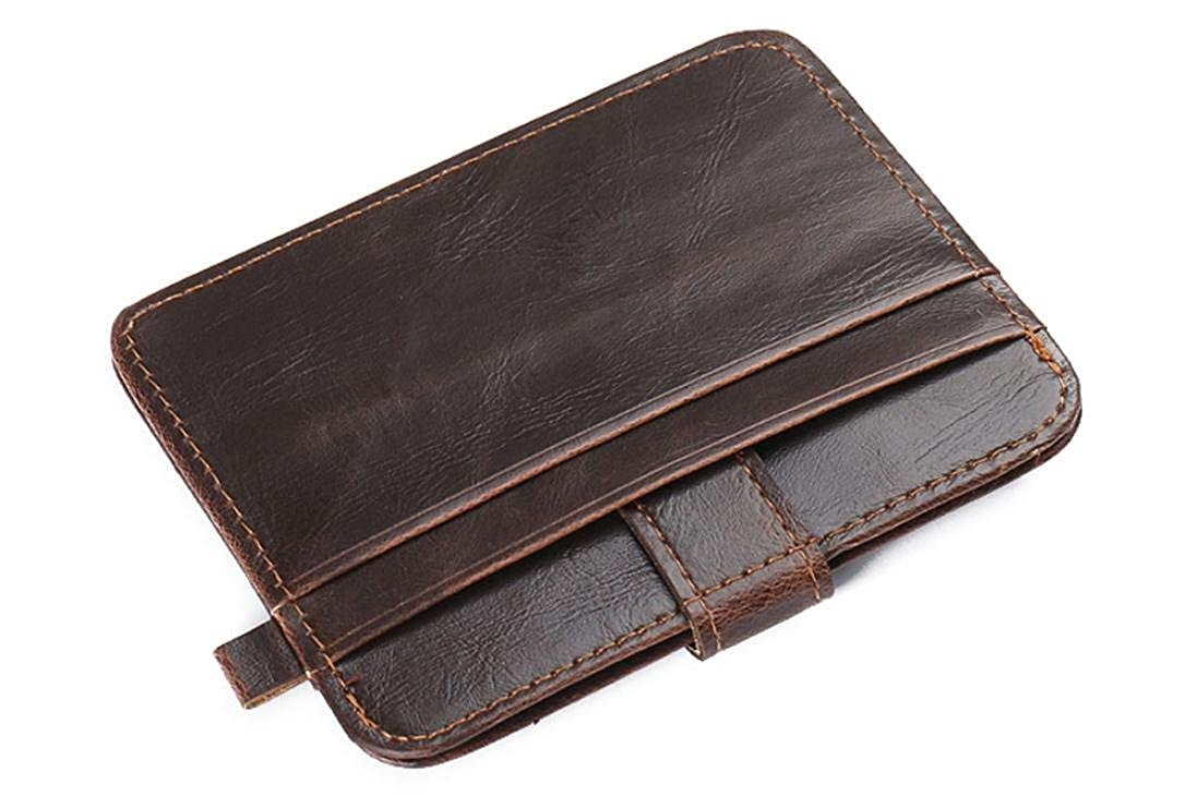 Embrayage Billfold ID Wallet Credit Luxe R/étro Mens cuir carte Purse Slim FeiTong Hommes portefeuille