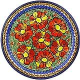 Polish Pottery 110/D90 Boleslawiec Stoneware Pottery Plate, 11-Inch, Blue