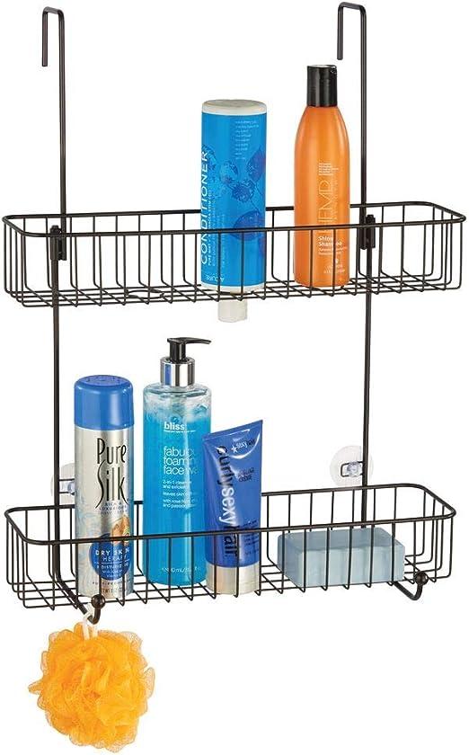 mDesign Estantería para baño en metal anticorrosivo – Estanterías ...