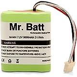 Mr.Batt 3000mAh Replacement Battery for iRobot Braava 380, 380T, Mint 5200, 5200B, 5200C Floor Mopping Robots