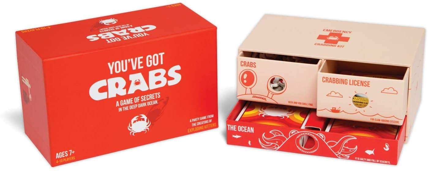 You've Got Crabs by Exploding Kittens - A Card Game Filled with Crustaceans and Secrets - Family Card Game - Card Games For Adults, Teens & Kids