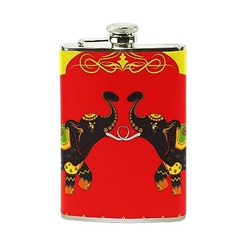 TIZORAX - Botella de acero inoxidable decorada con elefante ...