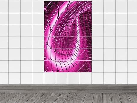 Piastrelle adesivo piastrelle immagine alimentazione pink bis viola