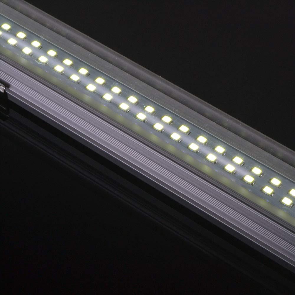 Set of 2 Interior Light Strip for Car Camper Van Bus Caravan Boat Motorhome Kitchen Bathroom Bar white Lamp 12V 72 LED Set of 2