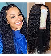 13x4 Lace Front Wigs Human Hair Pre Plucked 150% Density Brazilian Deep Wave Human Hair Wigs for ...