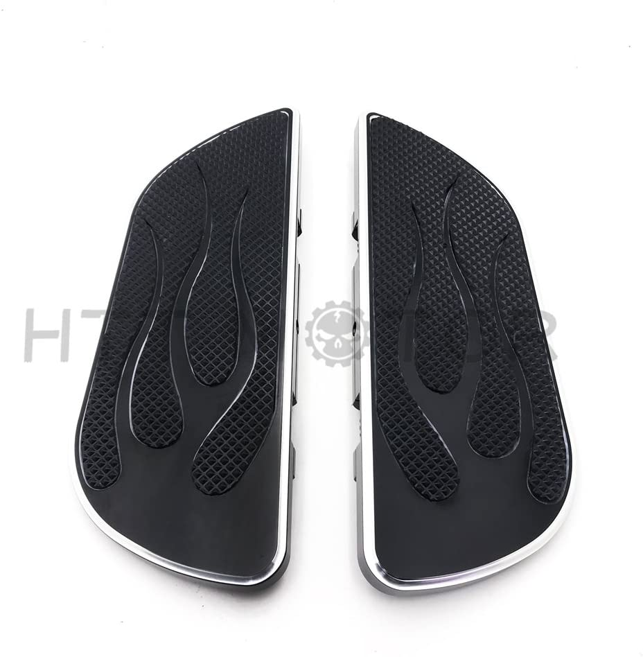 HTTMT FB002R Alumnium Front Driver Stretch Floorboard FootRest Compatible with Harley Touring 86-16 Pair