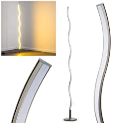 Lampada da Terra Design Moderno- Luce Bianca Calda ideale come Lampada salotto- Lampada a Stelo Led Ideale per Camera da Letto
