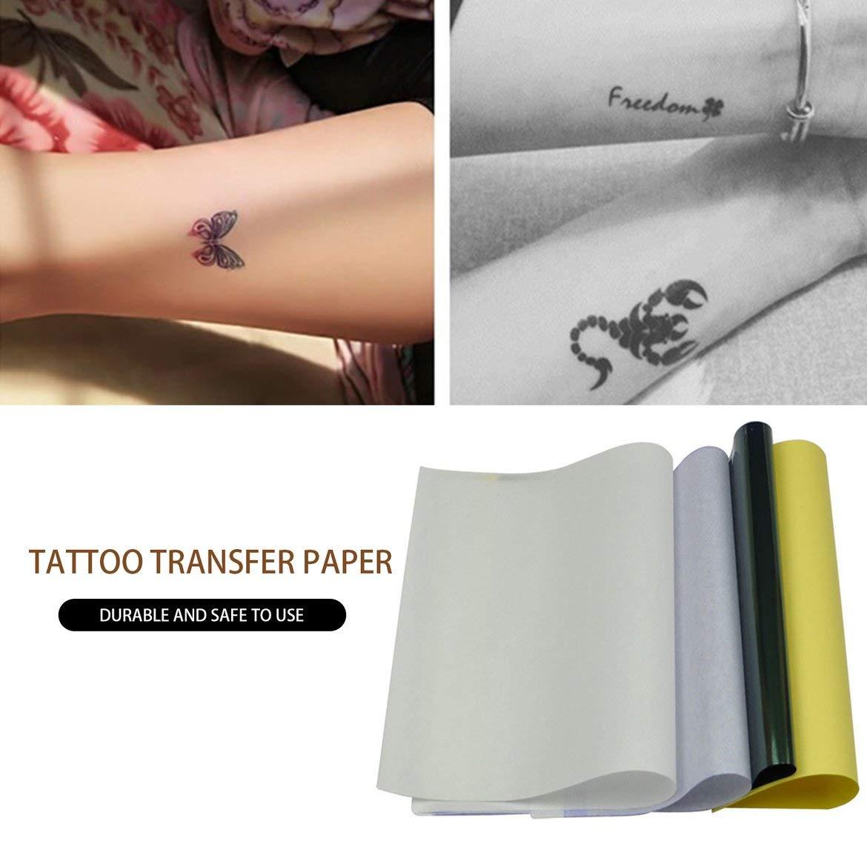 50pcs Papel de transferencia de tatuaje Papel de plantilla de ...
