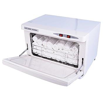 2 EN 1 16L Calor Toalla Calentador Ozono Toalla Esterilizador Gabinete Con UV Esterilizante Facial Piel Cuidado SPA Belleza Salón Desinfectante Equipo: ...