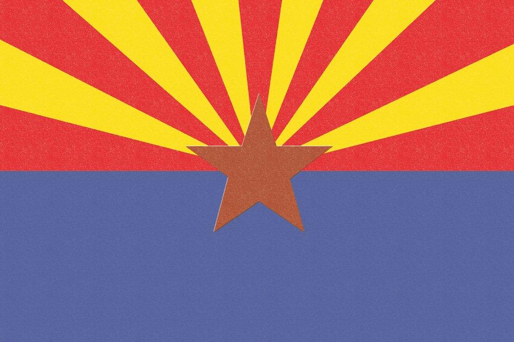 Arizona State Flag – 活版 36 x 54 Giclee Print LANT-51099-36x54 36 x 54 Giclee Print  B017E9XJ1G