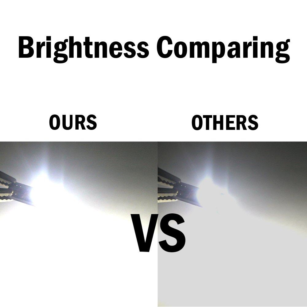 Int/érieur de carte W5W T10 Int/érieur Car LED Ampoule Canbus Sans Erreur Blanc 194 168 Super Bight Cale Ampoule pour D/ôme Porte Courtoisie pour 5050 152 158 Paquet de 10 Plaque dimmatriculation