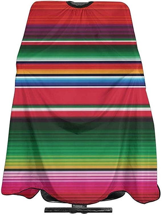 Capa De Peluquería Coloridas Mantas Mexicanas Rayas Corte ...