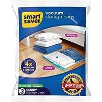 SmartSaver Reusable Ziplock Space Saver Vacuum Bags, Works with Any Vacuum Cleaner