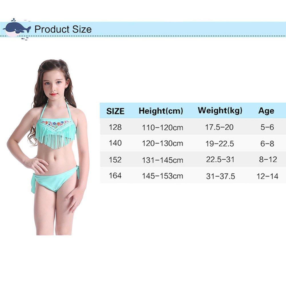 5c57712118955 Bornbayb Fille Halter 2 Pièces Maillot De Bain Maillot De Bain Tassel  Bikini Top avec Maillot De Bain Maillot De Bain (5-14 Ans): Amazon.fr:  Sports et ...