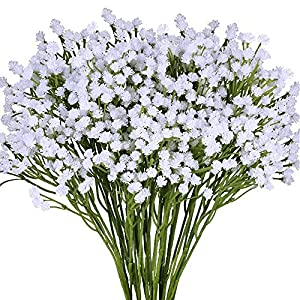 Yinhua 4 Pack Artificial Baby's Breath Artificial Gypsophila Blooms Artificial Flower Bush in White for Wedding Wreath Boutonniere Flower Crown 33