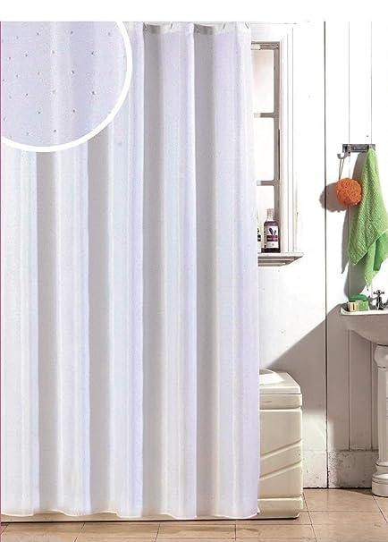 Luxury Glitter Diamante Effect Sparkle Diamond Fabric White Polyester Shower Curtain Amazoncouk Kitchen Home