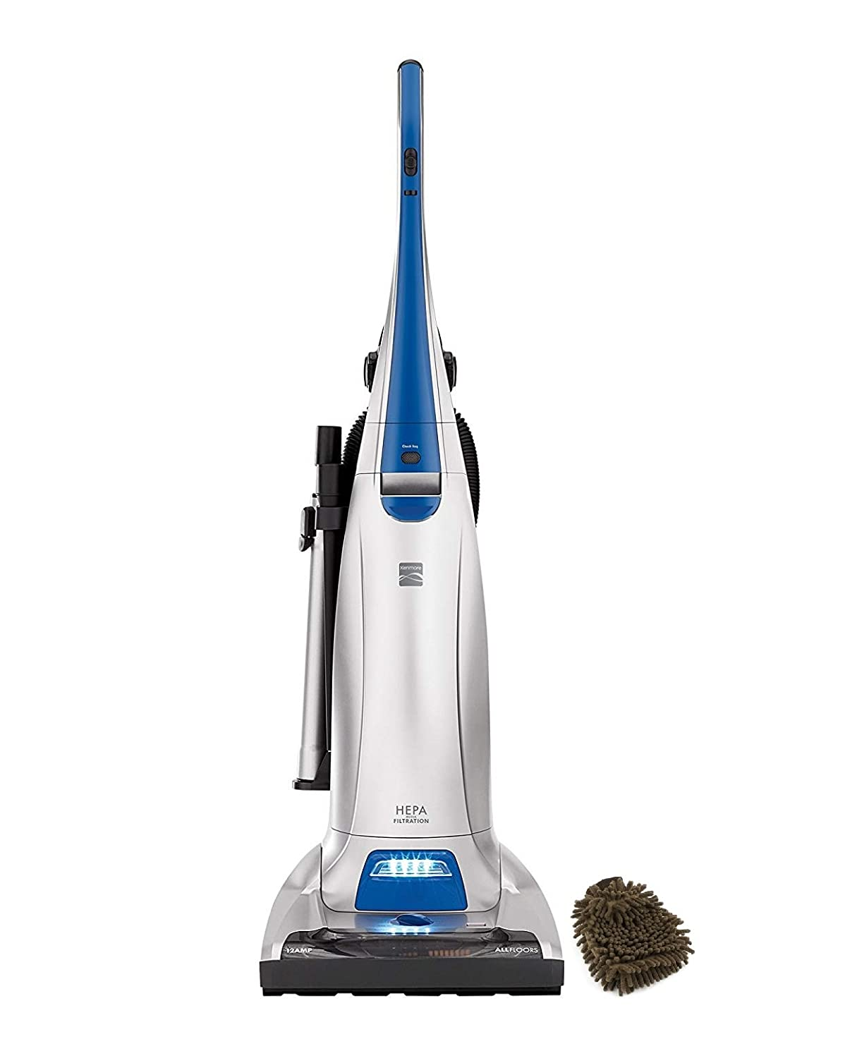 Kenmore 31140 Bags Filter, Pet and Allergy Friendly, Upright Vacuum Cleaner in Blue Silver (Complete Set), with Bonus Premium Microfiber Cleaner Bundle