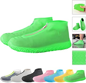 1 Pair Shoes Cover Silicone Anti-skid Thicken Overshoes Shoe Cover for Man Woman