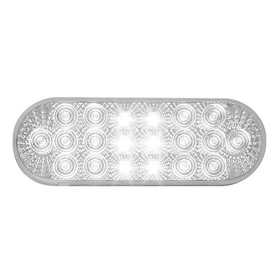 Grand General 77052 White Oval Low Profile Spyder 20-LED Sealed Back-Up Light: Automotive