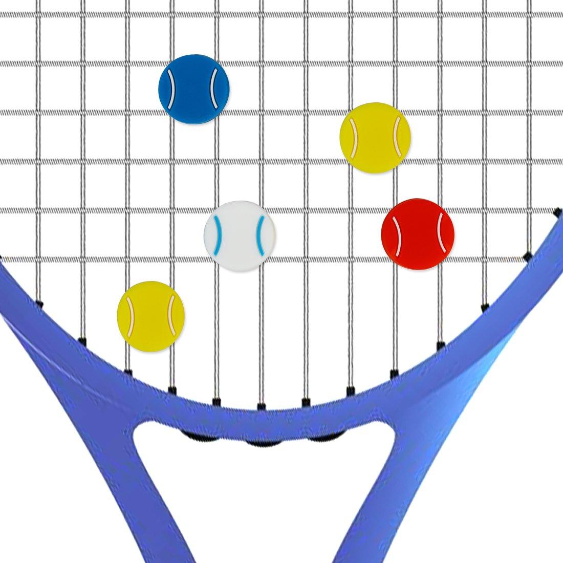Andux Tennis Racket Vibration Dampener Silicona Amortiguador Pack de 8 BZQ-03: Amazon.es: Deportes y aire libre