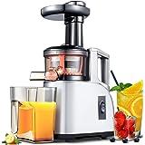 AMZCHEF Extractor de Zumo Licuadora Prensado en Frio Licuadoras para Verduras y Frutas Máquina de Jugo Slow Juicer…