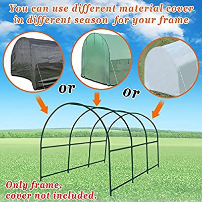 Strong Camel New Hot Green House 12'X7'X7' Greenhouse Spare Parts Frame (Cover NOT Included) by SUNRISE